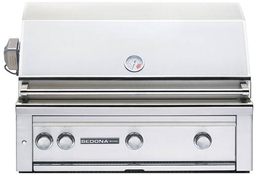 "Lynx Sedona Series L600PSRLP 36"" Built-in Gas Grill with 891 sq. in. Cooking Surface, ProSear Burner, 69,000 Total BTUs, 2 Stainless Steel Tube Burners, Tempera"