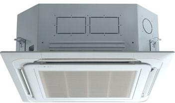 LG LC187HV 18,000 BTU Single Zone Ceiling Cassette Ductless Split System with 20,000 BTU Heat Pump, 15.0 EER, Inverter and Remote Control (LCN187HV Indoor/LUU187HV Outdoor)