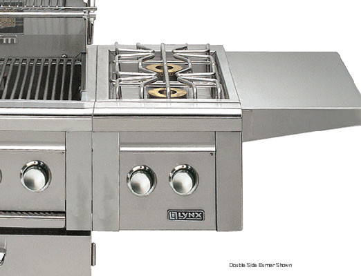 Lynx Professional Grill Series LCB12NG Cart-Mounted Single Side Burner with 15,000 BTU Solid Brass, U.S. & Canada LCB12NG
