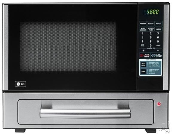 LG LCSP1110ST 1.1 cu. ft. Combination Countertop Microwave/Baking Drawer with 1,000 Watt Microwave Oven, 1,400 Watt Baking Drawer, Auto Pizza Feature, 4 Auto Cook Options, Child Lockout and LED Display