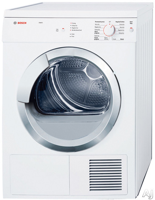 "Bosch Axxis Series WTV76100US 24"" Electric Dryer with 3.9 cu. ft. Capacity, 9 Drying Cycles, U.S. & Canada WTV76100US"