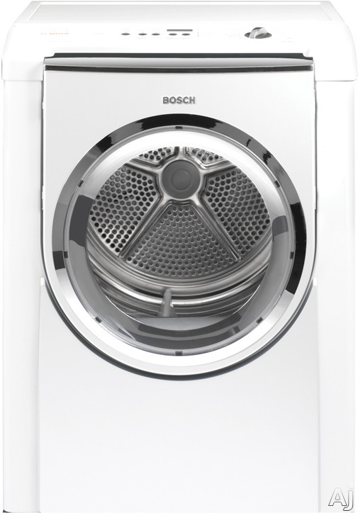 """Laundry - Bosch Nexxt 800 Series WTMC8320US 27"""" Electric Dryer With 6.7 Cu Ft Capacity 11 Drying Cycles LCD Display 3 Hour Timed Dry And Chrome Trim White And White"""