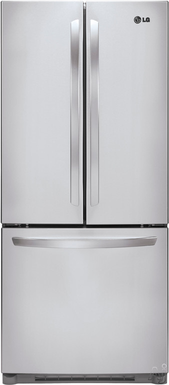 Lg Lfc20770st 19 7 Cu Ft French Door Refrigerator With Led Interior Lighting Hidden Hinges