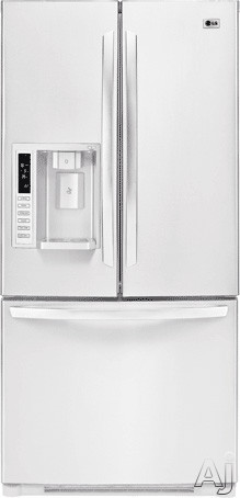 Lg lfx23961sw 22 6 cu ft french door refrigerator with 4 for Split french doors
