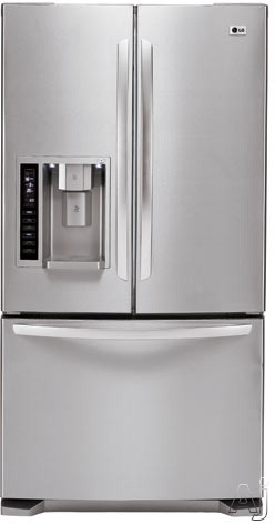Lg lfx25974st 24 7 cu ft french door refrigerator with for Split french doors