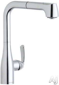 Elkay Gourmet Collection LKGT2041 Single Lever Pull-Out Kitchen Faucet with Dual Spray Function, U.S. & Canada LKGT2041