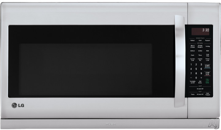 LG LMH2235ST 2.2 cu. ft. Over-the-Range Microwave Oven with Sensor Cooking, ExtendaVent 2.0, EasyClean, QuietPower Ventilation, Rapid Defrost, 2.2 cu. ft. Capacity, 1,000 Cooking Watts, 400 CFM Venting System, 10 Power Levels, SmoothTouch Glass Controls