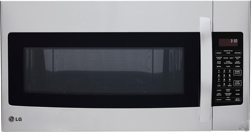 LG LMVH1711ST 1.7 cu. ft. Over-the-Range Microwave with 1500 Watt Convection Technology, Sensor, U.S. & Canada LMVH1711ST