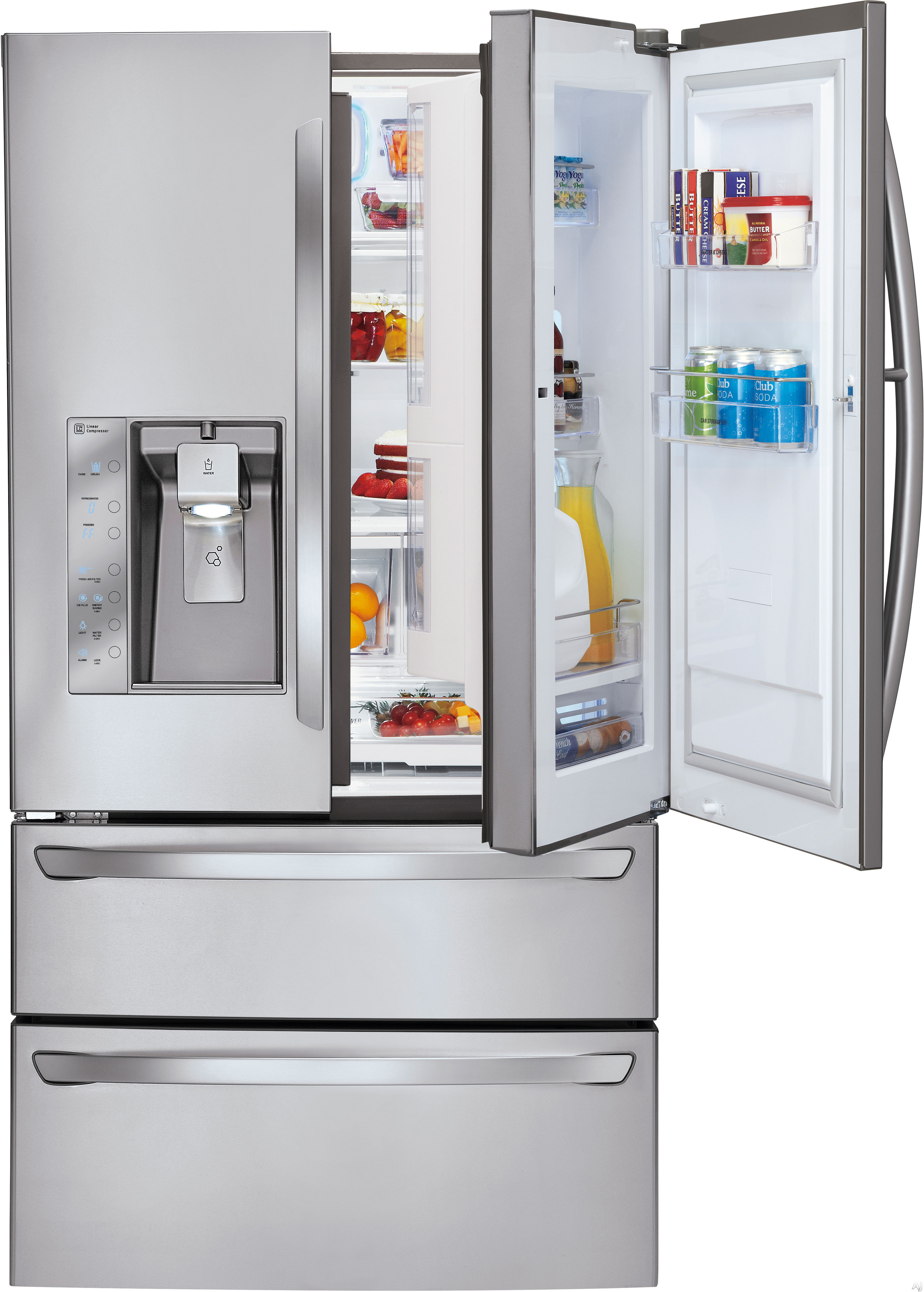 Lg Lmx30995st 30 3 Cu Ft French Door Refrigerator With