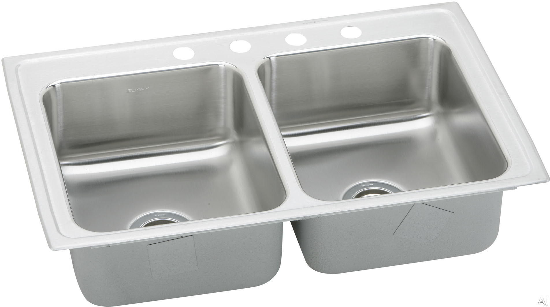"Elkay Lustertone Collection LRAD3722554 37"" Top Mount Double Bowl Stainless Steel Sink with, U.S. & Canada LRAD3722554"