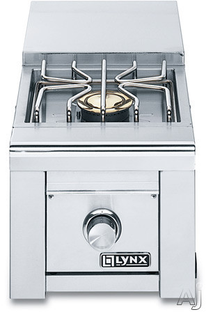 Lynx Professional Grill Series LSB12NG Built-In Single Side Burner with 15,000 BTU Solid Brass Burner, Hot Surface Ignition, Blue LED Control Illumination and S