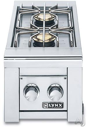 Lynx Professional Grill Series LSB22LP Built-In Double Side Burner with Two 15,000 BTU Brass, U.S. & Canada LSB22LP