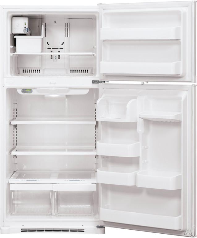 LG LTC19340SW 19.0 cu. ft. Top Freezer Refrigerator with 2 ... Open Empty Freezer