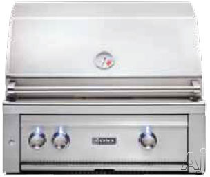 Lynx L500 Series L500 30 Inch Built-in Gas Grill with 733 sq. in. Cooking Surface, 46,000 Total BTUs, 2 Stainless Steel Tube Burners, LED Control Light and Temperature Gauge