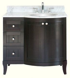 "click for Full Info on this Empire Industries Malibu 100 Collection M10036RD 36"" Contemporary Vanity with Cabinet Doors  Drawers and Optional Countertops: Dark Mahogany"