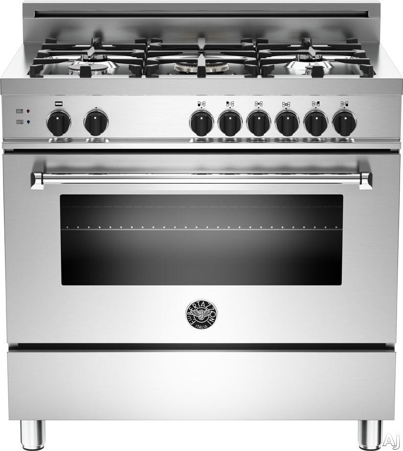 Bertazzoni MAS365GASXE 36 Pro Style Gas Range With 5