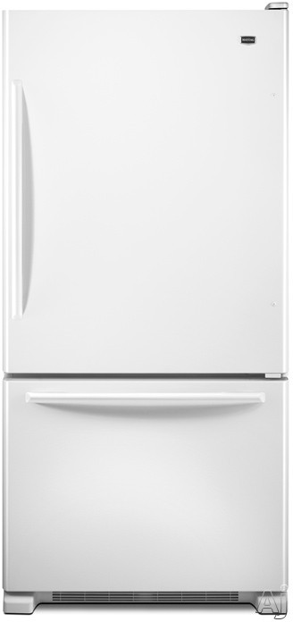 Maytag EcoConserve Series MBF1958XEW 18.5 cu. ft. Bottom-Freezer Refrigerator with 5 Spill-Catcher, U.S. & Canada MBF1958XEW