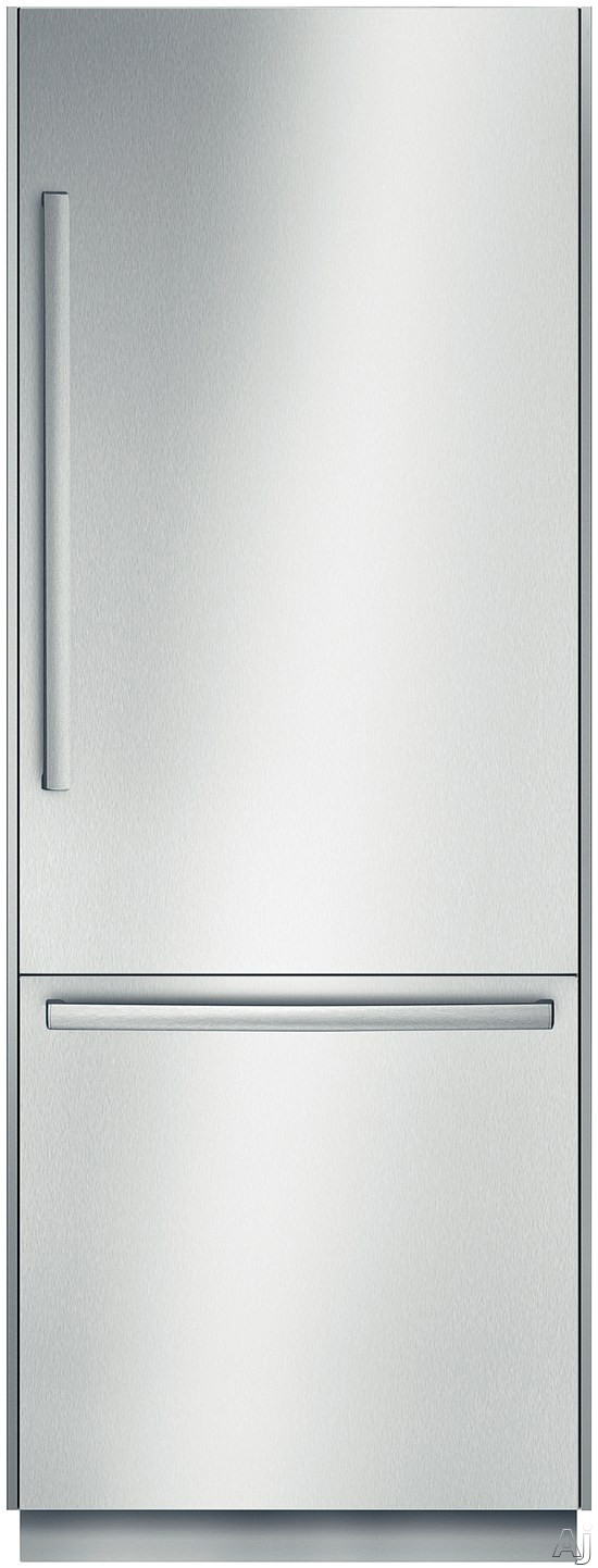Bosch Benchmark Series B30BB830 30 Inch Built-In Bottom Freezer Refrigerator with Dual Evaporators, Adjustable Glass Shelves, Meat Drawer, Humidity Controlled Crisper Drawer, SuperCool and SuperFreeze, 16.0 cu. ft. Capacity, Gallon Storage, Ice Maker, Sab