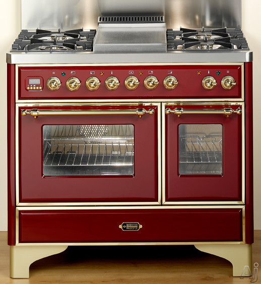 """Ilve Majestic Collection UMD1006MPBL 40"""" Traditional-Style Dual Fuel Range with 6 Sealed Burners, U.S. & Canada UMD1006MPBL"""