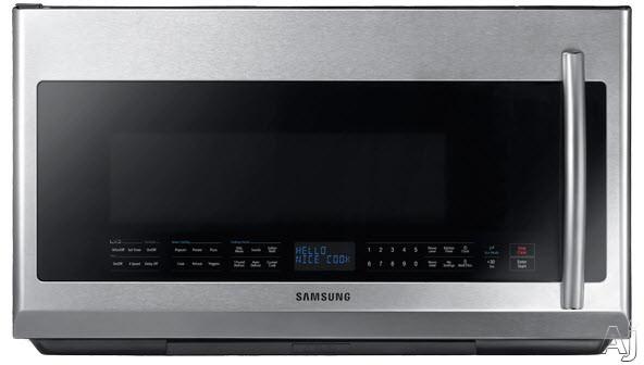 Samsung ME21F707MJT 2.1 cu. ft. Over-the-Range Microwave Oven with 400 CFM Ventilation, 1,000, U.S. & Canada ME21F707MJT