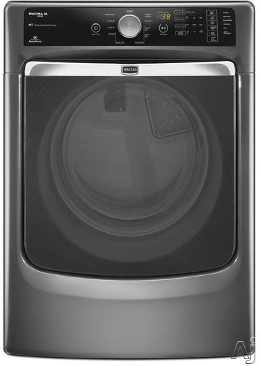 Maytag Maxima Series MED6000A 27 Inch 7.4 cu. ft. Electric Dryer with 5 Temperature Settings, Steam, Wrinkle Prevent and AutoMoisture Sensing with Quad Baffles