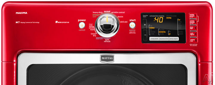 Maytag Med6000xr 27 Quot Electric Steam Dryer With 7 4 Cu Ft