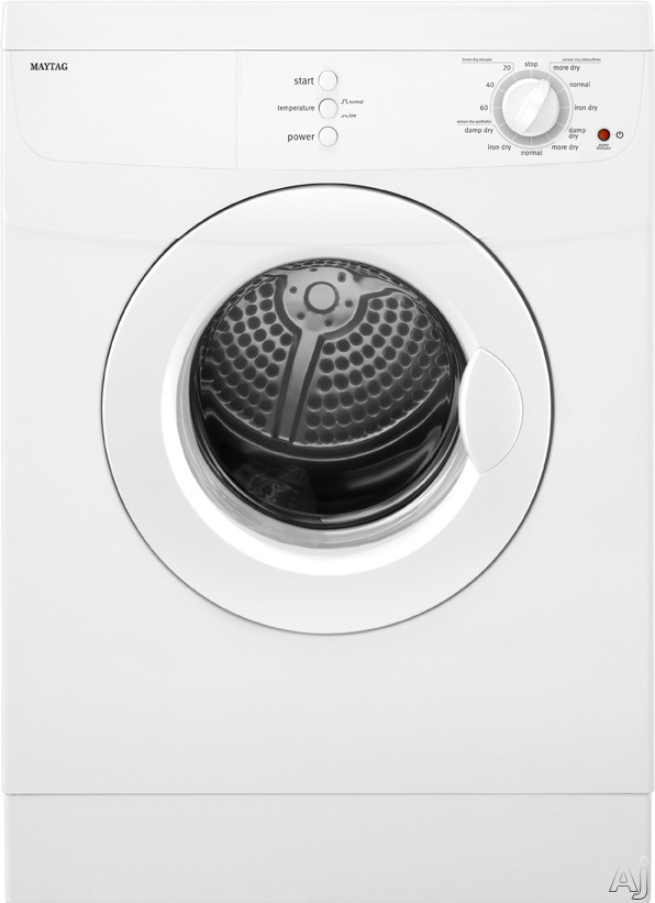"Maytag MED7500YW 24"" Compact Electric Dryer with 3.8 cu. ft. Capacity, 11 Dry Cycles, Damp Dry, U.S. & Canada MED7500YW"