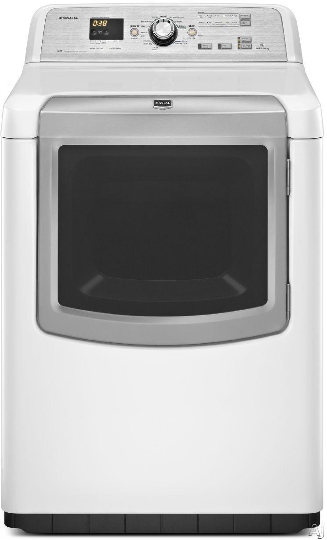 "Maytag Bravos XL Series MGDB880BW 29"" Gas Dryer with 7.3 cu. ft. Capacity, 11 Dry Cycles, 5, U.S. & Canada MGDB880BW"
