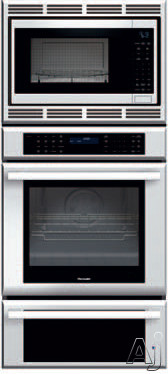Thermador Masterpiece Series MEDMCW71JS 27 Inch Triple Combination Wall Oven with 4.2 cu. ft. True Convection Oven, 1.5 cu. ft. Convection Microwave, 2.3 cu. ft. Warming Drawer, Temperature Probe and 2 Telescopic Racks MEDMCW71JS