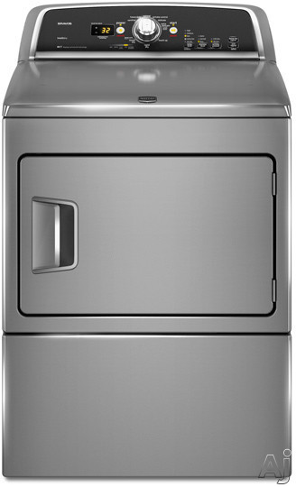 "Maytag Bravos X Series MEDX600X 27"" Electric Dryer with 7.4 cu. ft. Capacity, 9 Cycles, 5, U.S. & Canada MEDX600X"