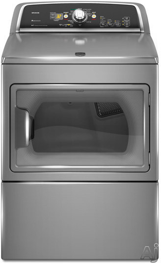 """Maytag Bravos X Series MGDX700X 27"""" Gas Dryer with 7.4 cu. ft. Capacity, 10 Cycles, 5 Temperature, U.S. & Canada MGDX700X"""