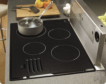 Dacor Discovery MET304SF 30 Inch Smoothtop Electric Cooktop with 4 Ribbon Elements, Electric Glide Controls and Safety Heat Limiter: Black Top with Satin Trim