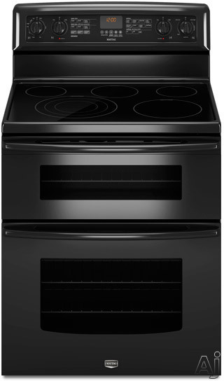 Maytag met8885xs 30 freestanding electric double oven range with 5 radiant elements 4 2 cu ft - Maytag electric double oven range ...
