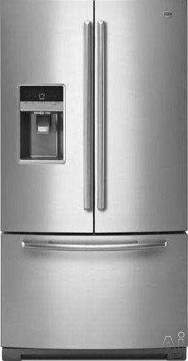 Maytag Ice2O Series MFT2673BE 26.1 cu. ft. French Door Refrigerator with 4 Spill-Catcher Glass, U.S. & Canada MFT2673BE