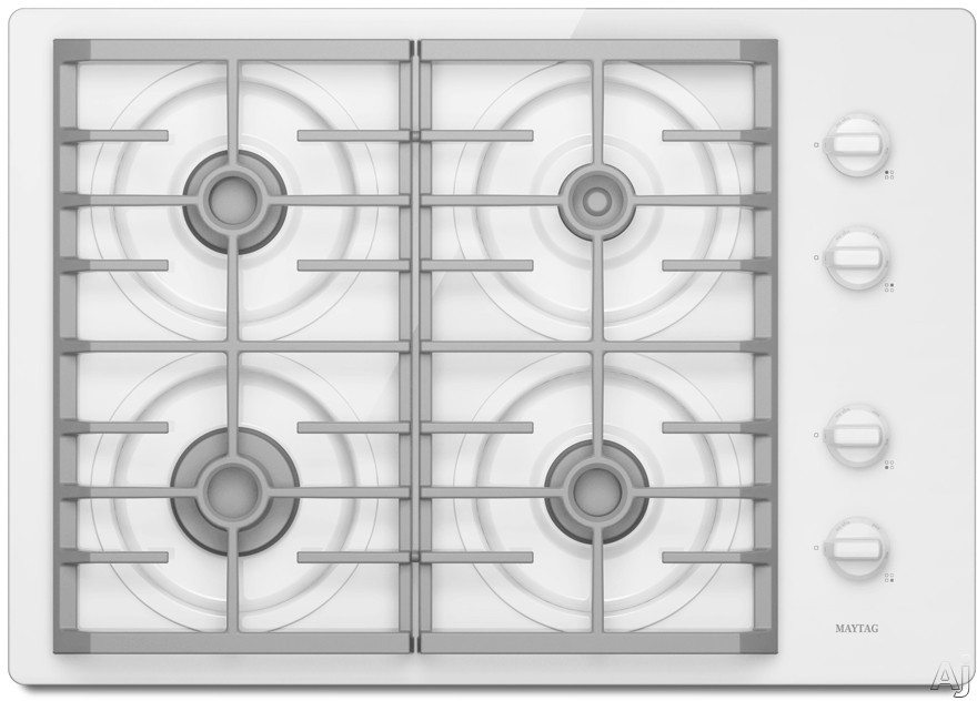 "Maytag MGC7630W 30"" Gas Cooktop with 4 Sealed Burners, Simmer Burner, Continuous Cast-Iron Grates, U.S. & Canada MGC7630W"