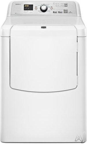 "Maytag Bravos XL Series MGDB725BW 29"" Gas Dryer with 7.3 cu. ft. Capacity, 5 Temperatures, Advanced, U.S. & Canada MGDB725BW"