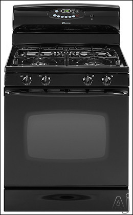"Maytag MGR5765QDB 30"" Freestanding Gas Range With 4 Sealed Burners 5.3 Cu Ft Self-Clean Oven Hidden Bake Burner Automatic Oven Light Storage Drawer And El"