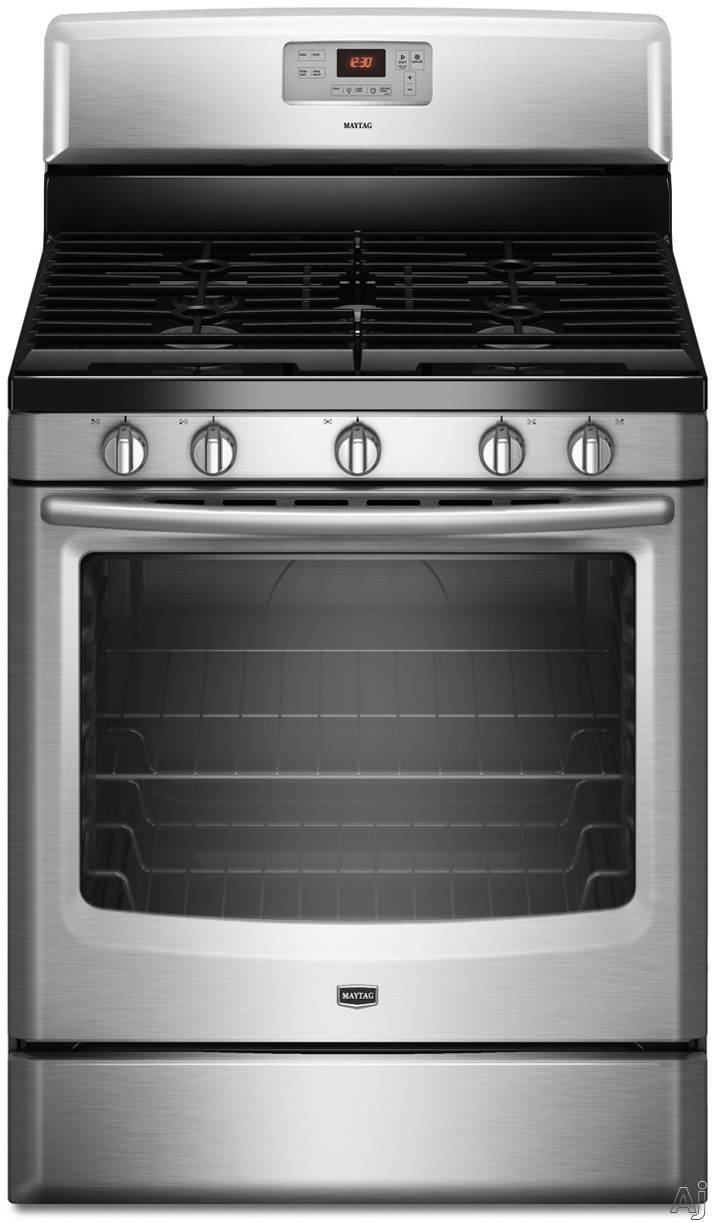 Maytag mgr8674as 30 freestanding gas range with 5 sealed burners 5 8 cu ft capacity 17 000 - Clean gas range keep looking new ...