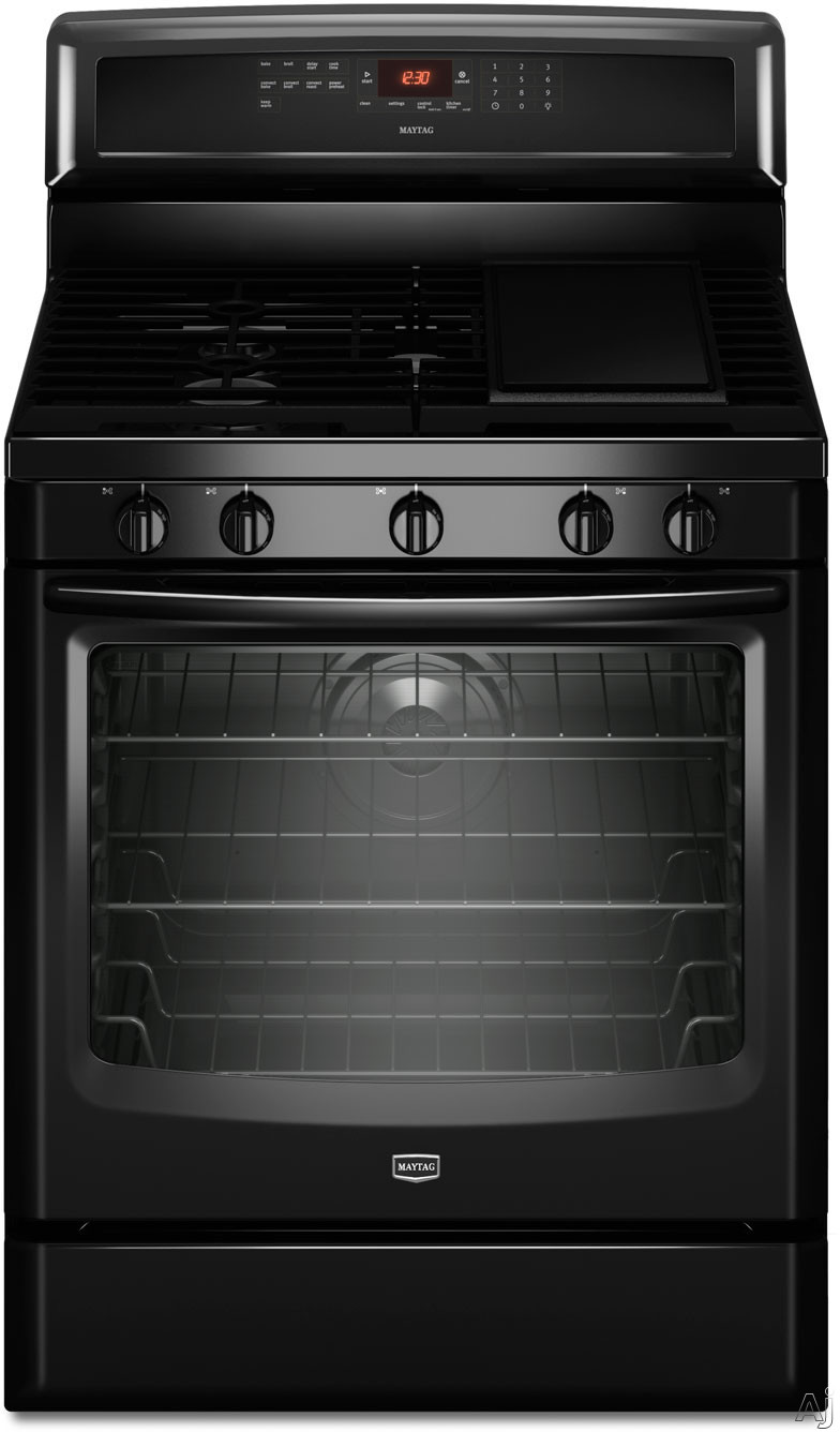 """Maytag MGR8880AB 30"""" Freestanding Gas Range with 5 Sealed Burners, 5.8 cu. ft. True Convection Oven, U.S. & Canada MGR8880AB"""