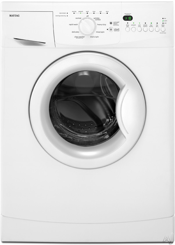 "Maytag MHWC7500YW 24"" Front-Load Compact Washer with 2.0 cu. ft. Capacity, 8 Wash Cycles, Flexible, U.S. & Canada MHWC7500YW"