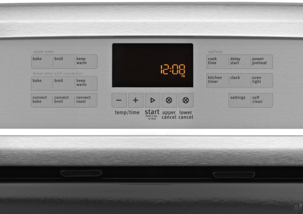 digital oven touchpad