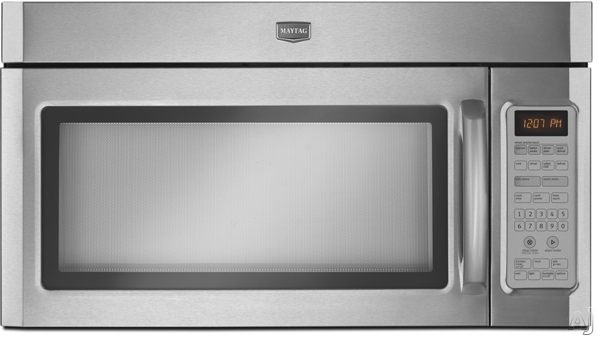 Maytag MMV5208WS 2.0 cu. ft. Over-The-Range Microwave with 1100 Watts, Four-Speed 300 CFM Venting, U.S. & Canada MMV5208WS