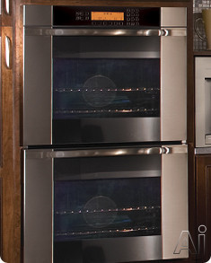 Wall Oven with Vertical Stainless Steel Trim