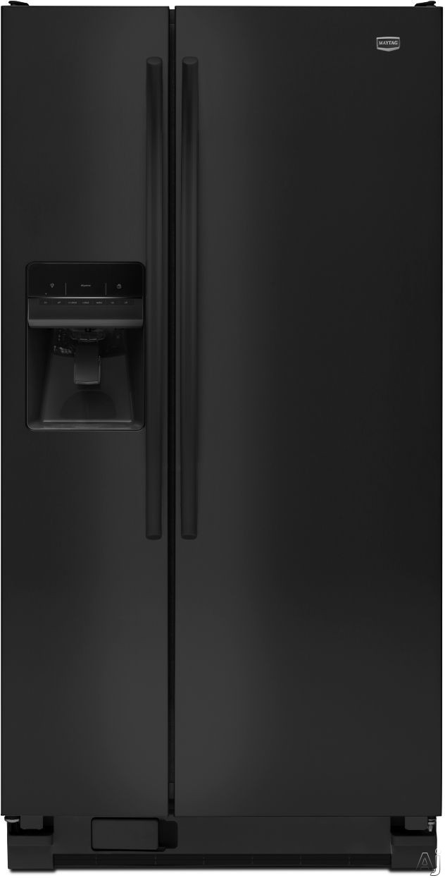 Maytag MSF22D4XAB 22 cu. ft. Side by Side Refrigerator with Spill-Catcher Glass Shelves, FreshLock, U.S. & Canada MSF22D4XAB