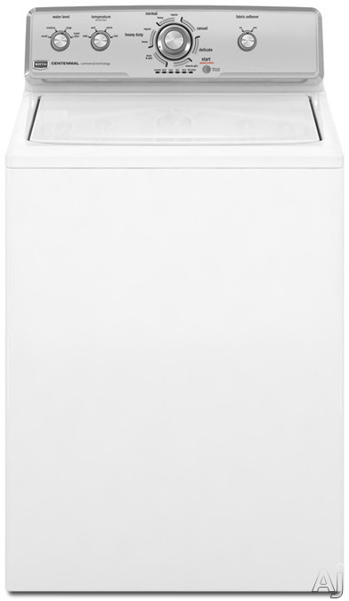"""Maytag Centennial Series MVWC200XW 27"""" Top-Load Washer with 3.4 cu. ft. Capacity, 8 Cycles, 10, U.S. & Canada MVWC200XW"""