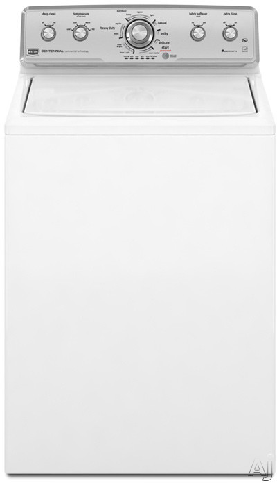 """Maytag Centennial Series MVWC400XW 27"""" Top-Load Washer with 3.6 cu. ft. Capacity, 11 Cycles, U.S. & Canada MVWC400XW"""