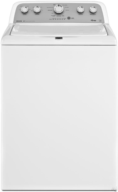 "Maytag Bravos X Series MVWX500BW 27"" Top-Load Washer with 3.8 cu. ft. Capacity, 11 Wash Cycles, 800, U.S. & Canada MVWX500BW"