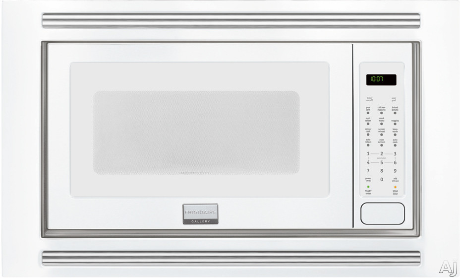Frigidaire Gallery Series FGMO205KW 2.0 cu. ft. Countertop Microwave Oven with 1,200 Cooking Watts, Sensor Cook, 3 Auto Cook Options, 7 User Preference Options, One-Touch Keep Warm Setting, Fits-More Microwave and Effortless Reheat: White