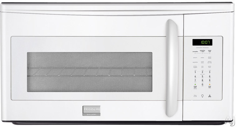 Frigidaire Gallery Series FGMV153CLW 1.5 cu. ft. Over-the-Range Convection Microwave Oven with 900 Cooking Watts, 2-Speed 300 CFM Venting System, Sensor Cooking, Glass Turntable and Convection Cooking Rack: White