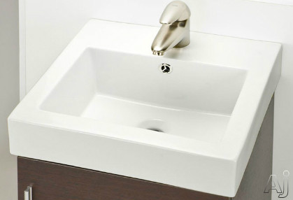 Empire Industries New City Collection Nc18w1 18 Inch White Ceramic Sink With 5 3/4 Inch Bowl Depth And 1 3/4 Inch Drain Hole